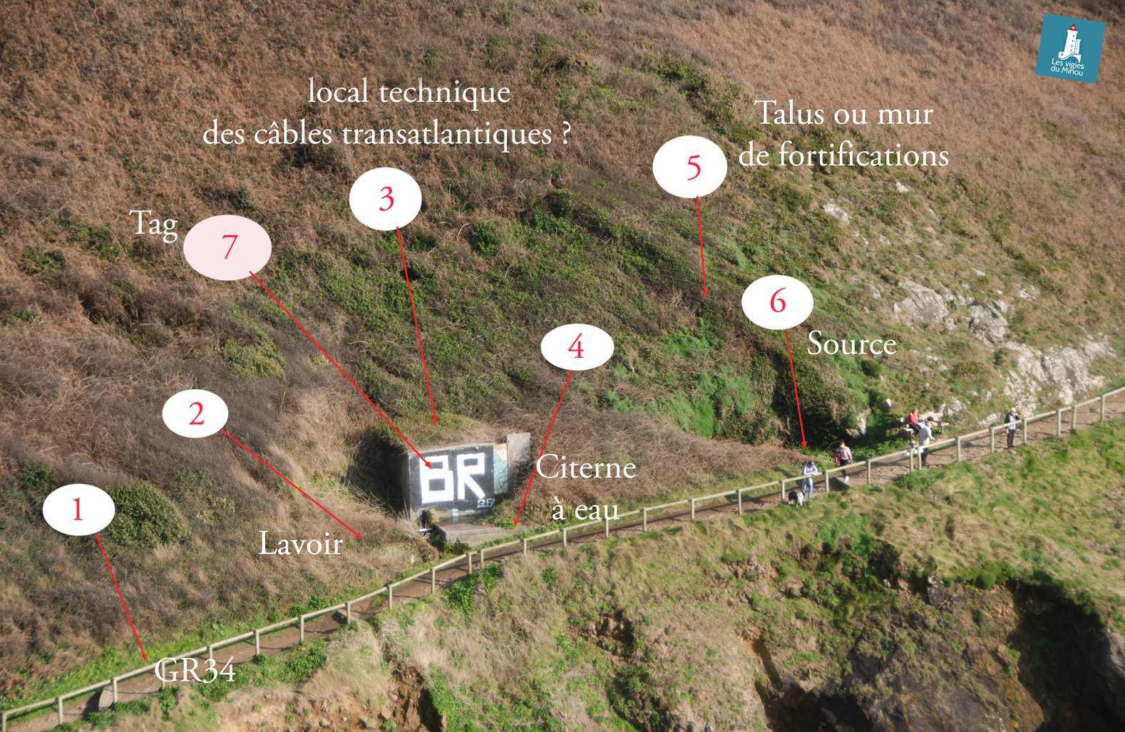 Le chantier du lavoir entre la plage du Minou et le fort du Petit-Minou a démarré